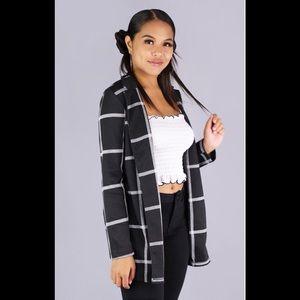 Jackets & Blazers - ✅ Offers Welcome NWT career blazer Black whiteSz L